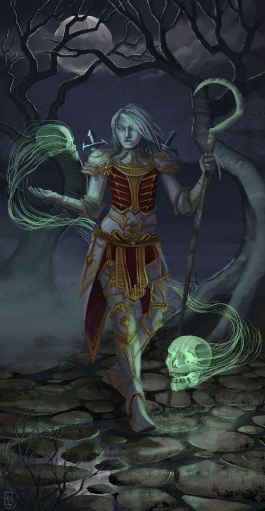 "Frail Inarius Diablo III fanart 11.68x22.53"", digital"