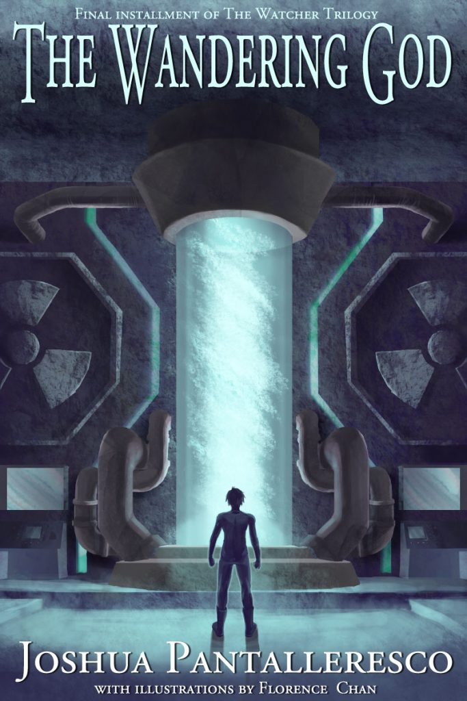 "The Wandering God Book cover for Joshua Pantalleresco. 6x9"", digital"