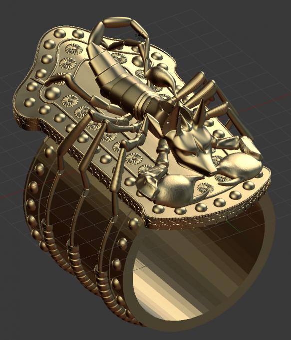The Mummy Returns – Scorpion King Bracelet – work in progress