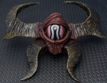 Diablo 3 – Visage of Giyua voodoo mask – Worbla, acrylic paint, helmet hardware.